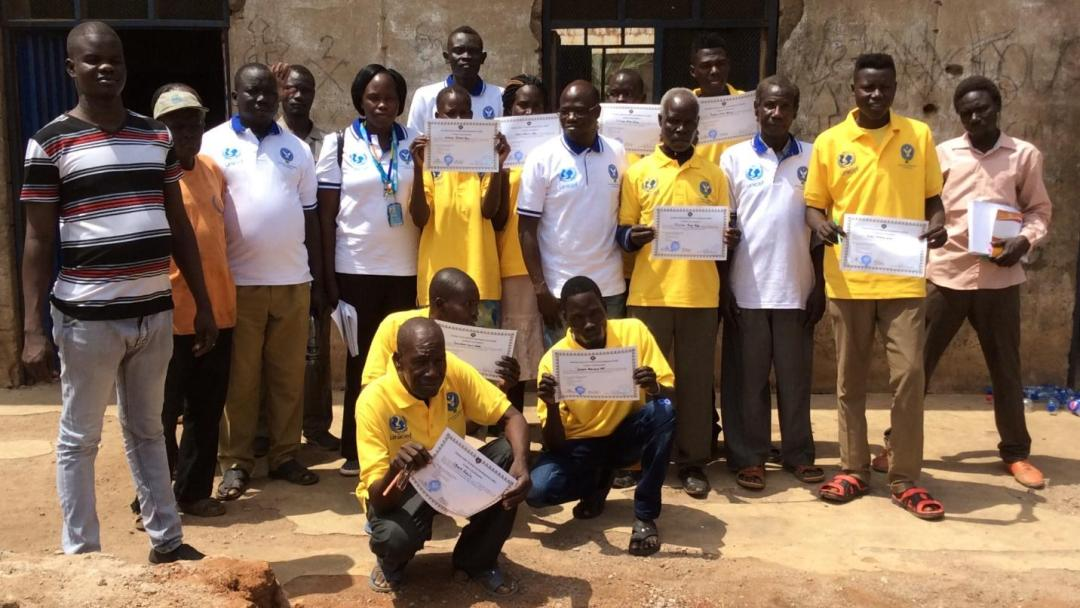Teachers were awarded certificates of attendance