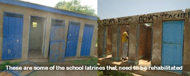 These are some of the latrines that need repair